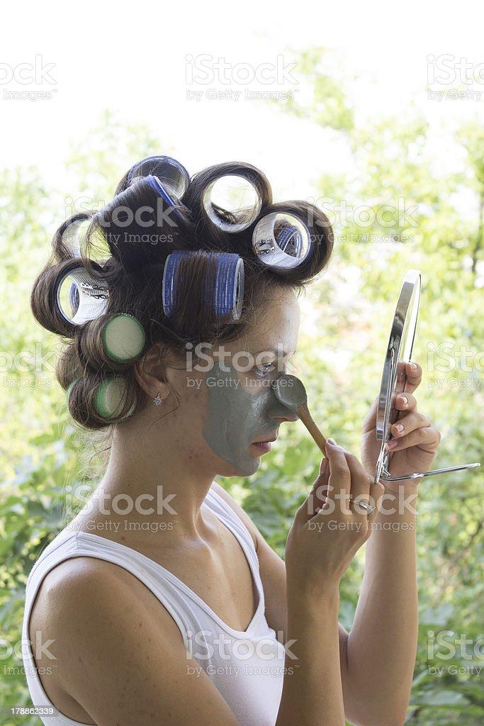 Woman Receiving A Facial royalty-free stock photo