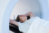 Woman Receiving a Medical Scan for Breast Cancer