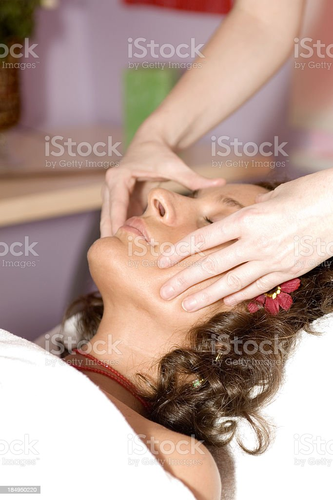 Woman Receiving Massage royalty-free stock photo