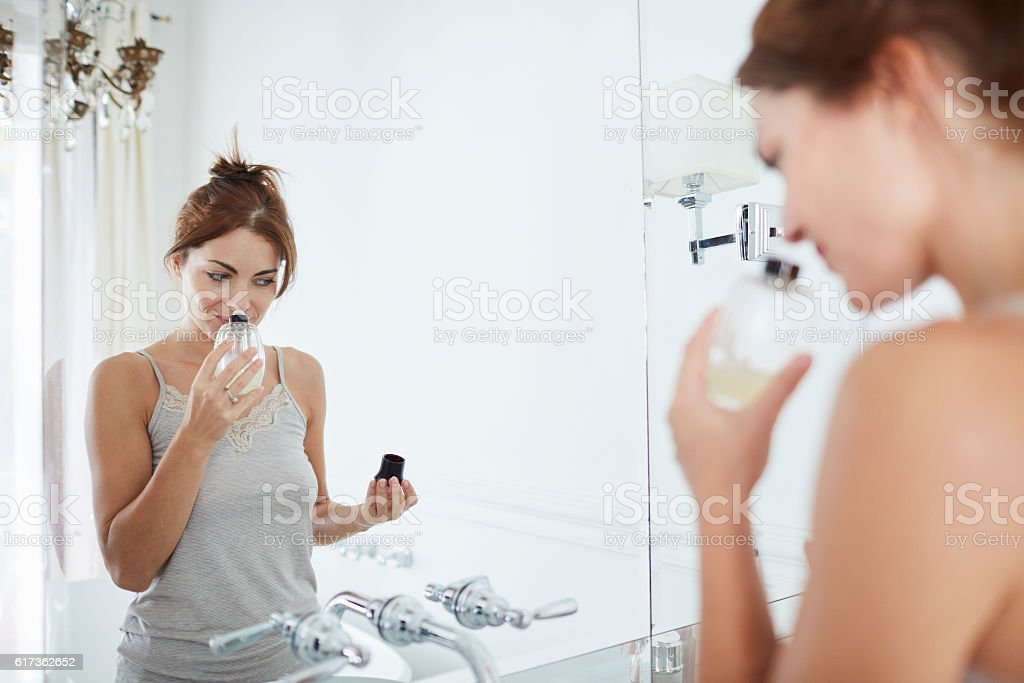 Woman relaxing a luxury bathroom. stock photo
