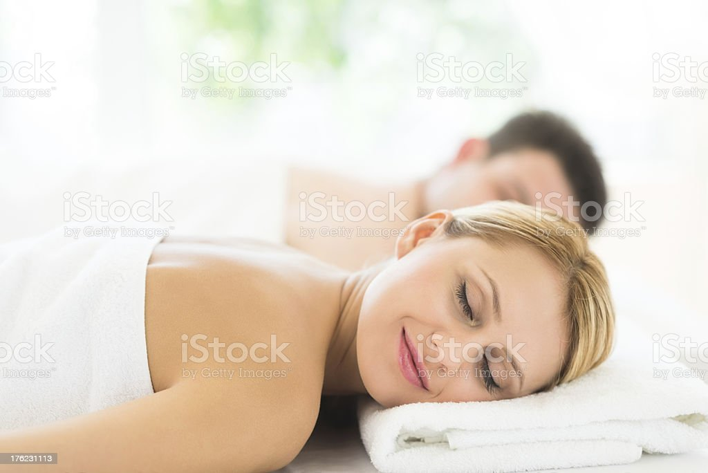 Woman Relaxing At Health Spa royalty-free stock photo