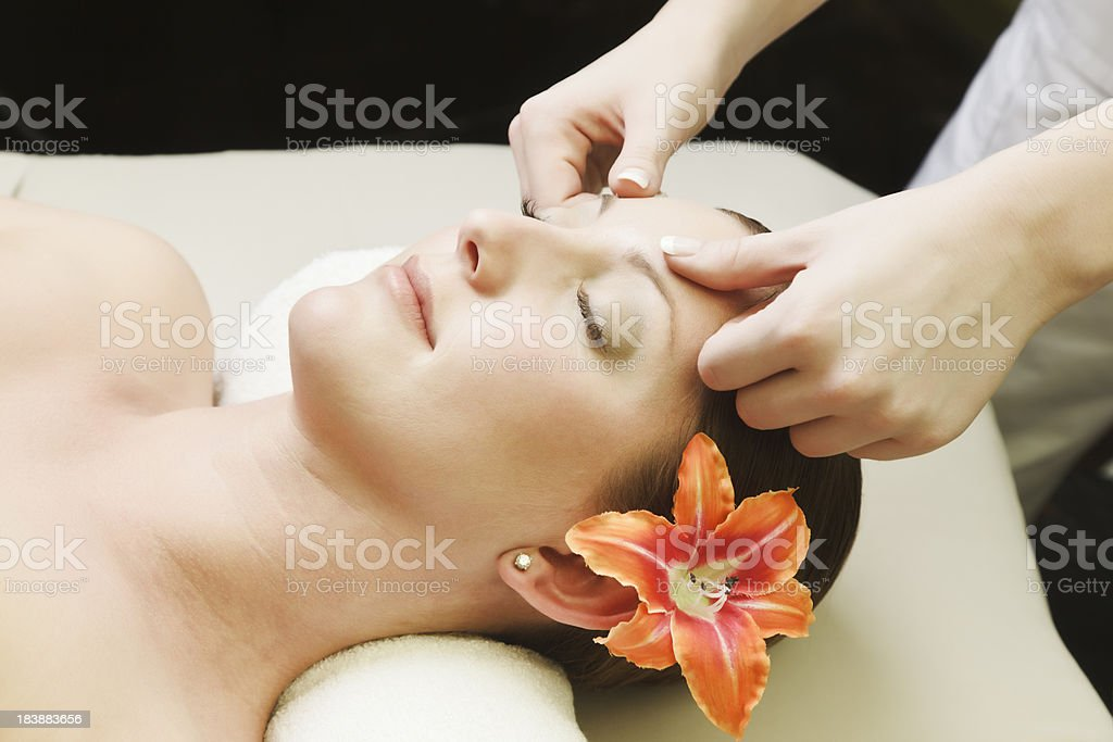 Woman Relaxing at the Spa royalty-free stock photo