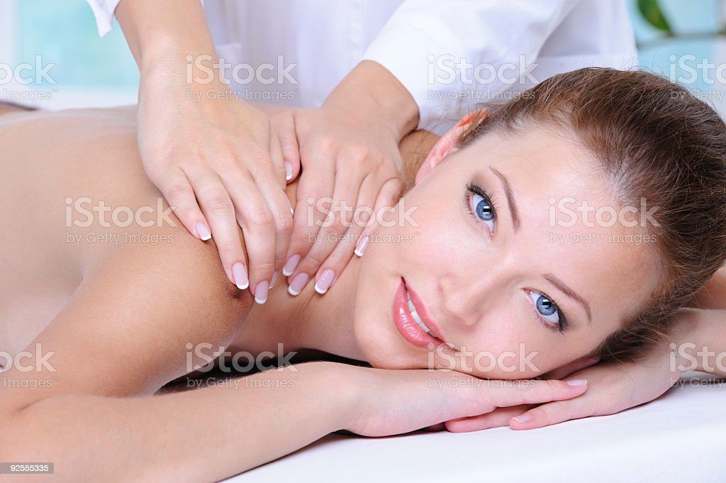 woman relaxing in the beauty salon royalty-free stock photo