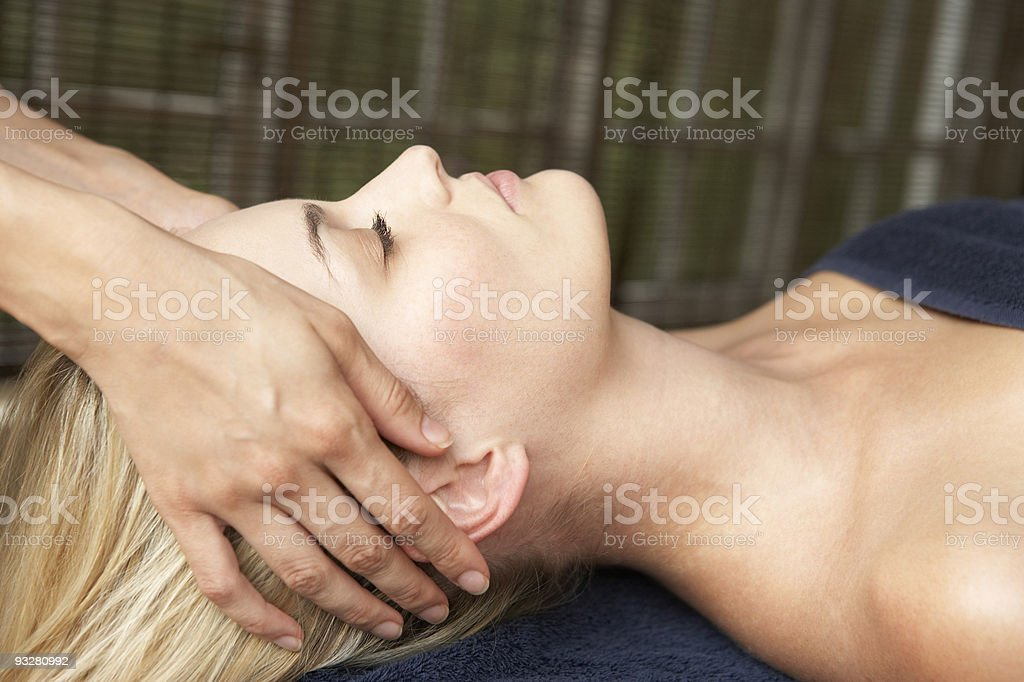 Woman Relaxing On Massage Table royalty-free stock photo