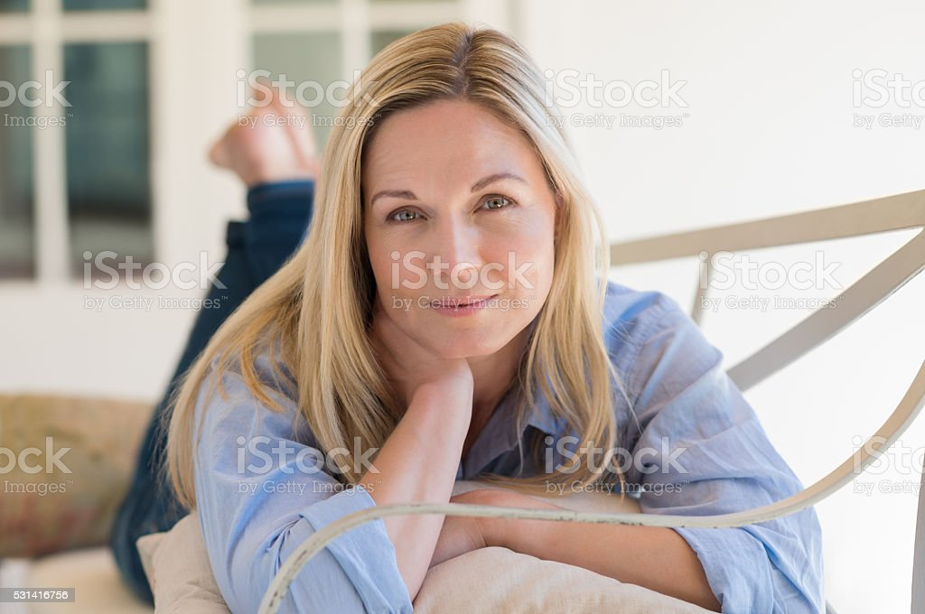 Woman relaxing stock photo