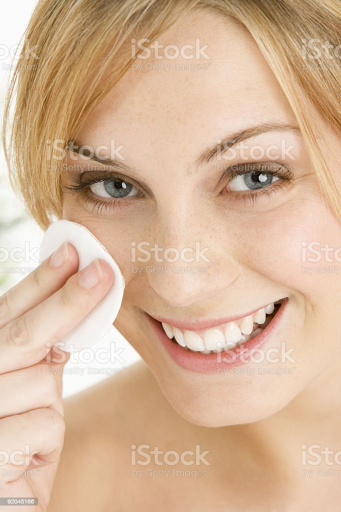 Woman Removing Make Up royalty-free stock photo