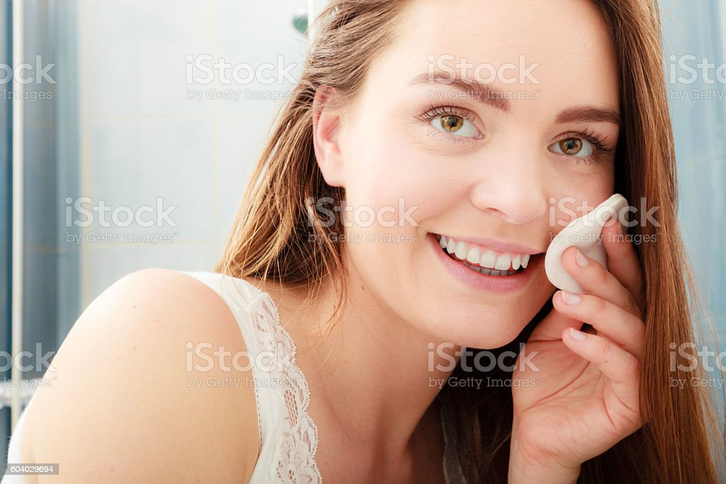 Image result for woman removing makeup