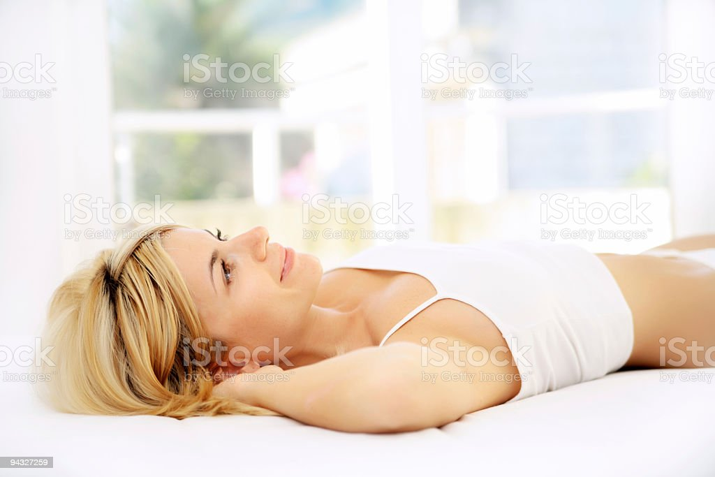 Woman resting. royalty-free stock photo