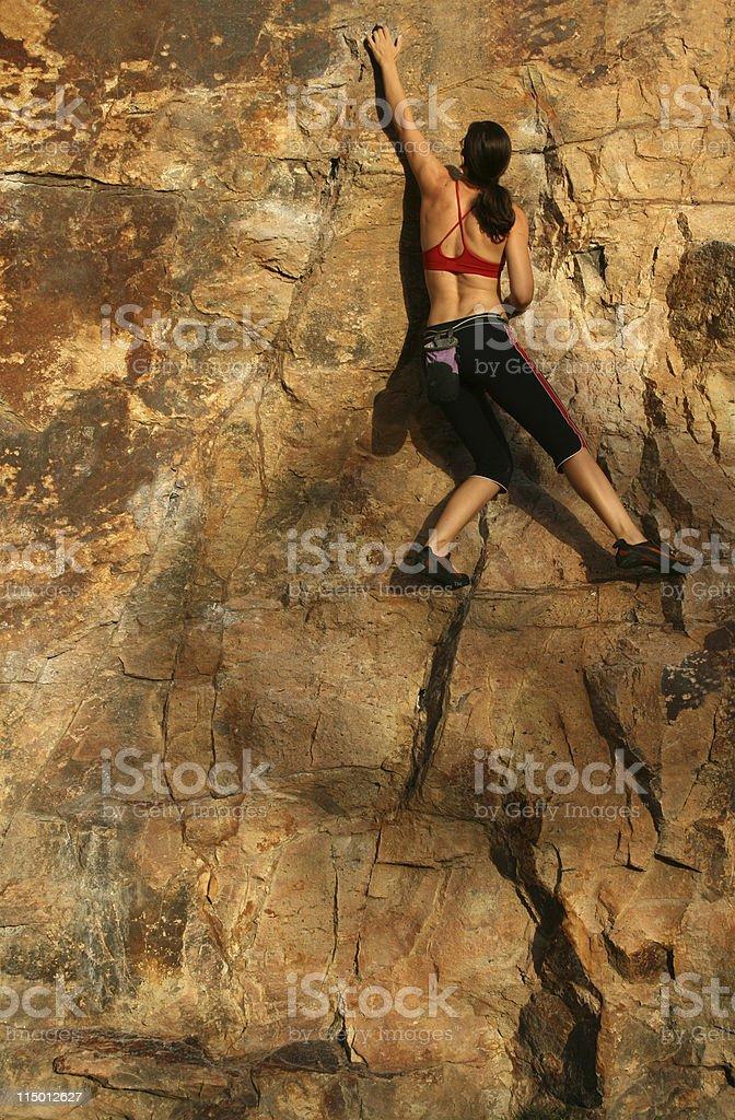 Woman Rockclimber royalty-free stock photo