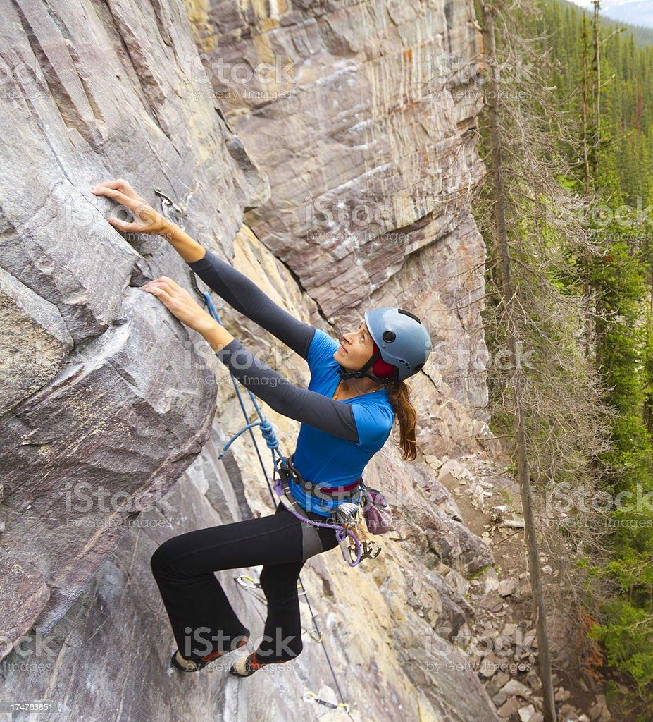 Woman Rockclimber stock photo