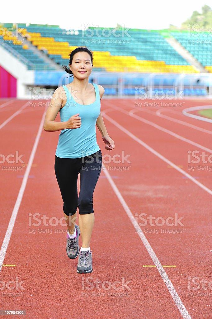 woman runner running royalty-free stock photo