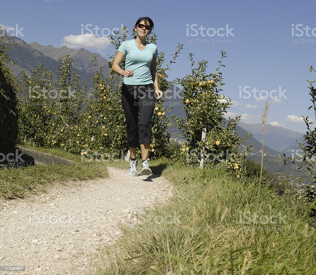 Woman running royalty-free stock photo