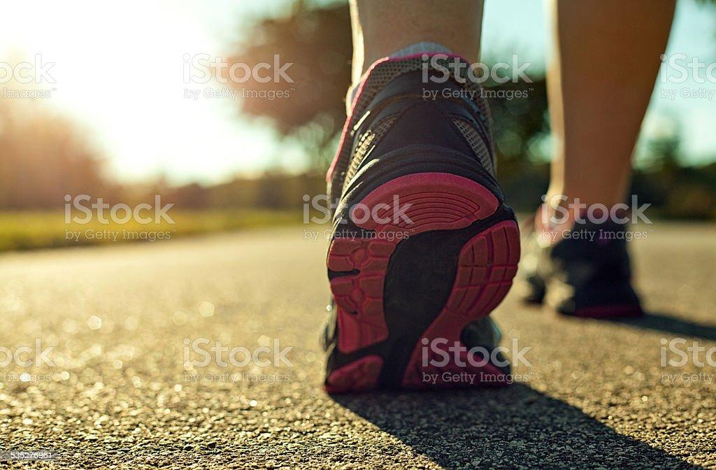 Woman running stock photo