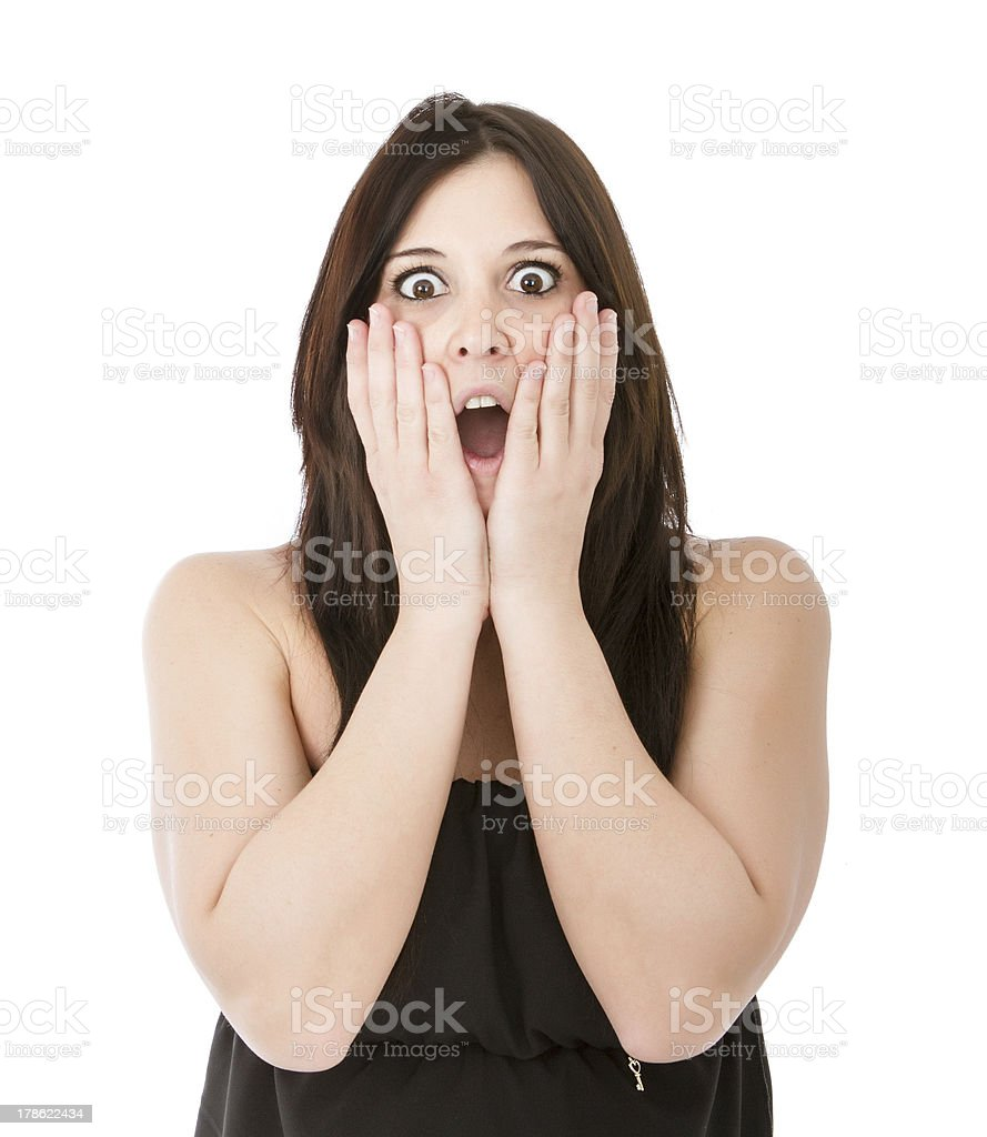 woman say oh my god royalty-free stock photo