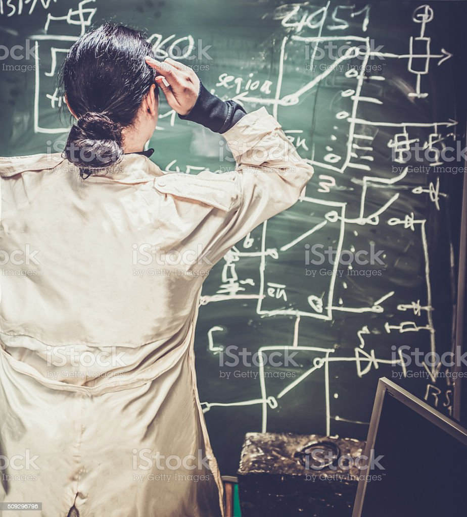 Woman Scientist stock photo