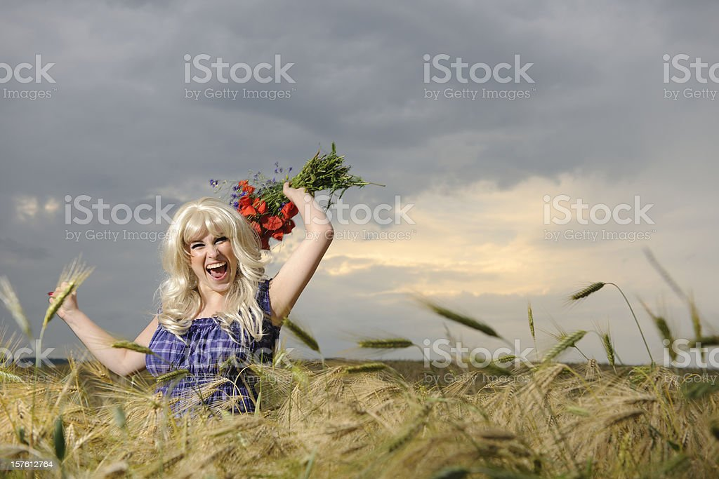 woman screaming royalty-free stock photo