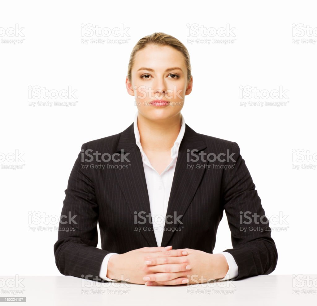 Woman Seated at Table royalty-free stock photo