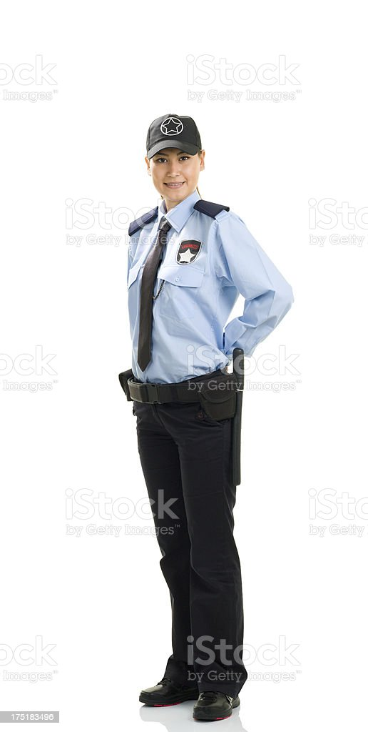 Woman Security Guard royalty-free stock photo