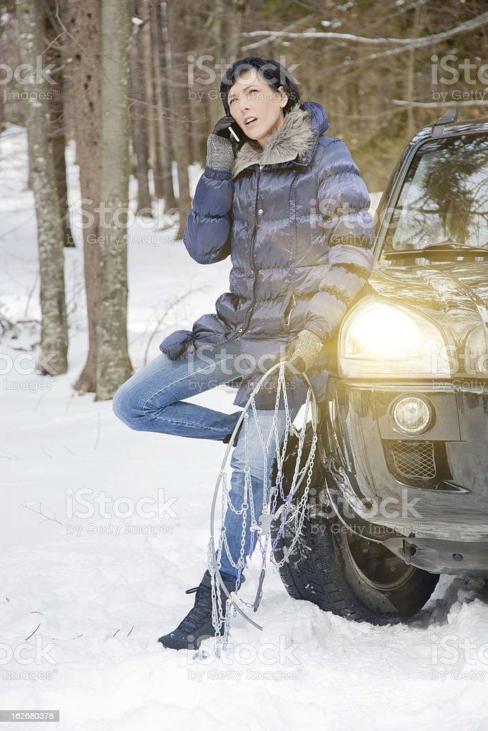 Woman seeking assistance royalty-free stock photo