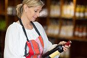 woman selling wine