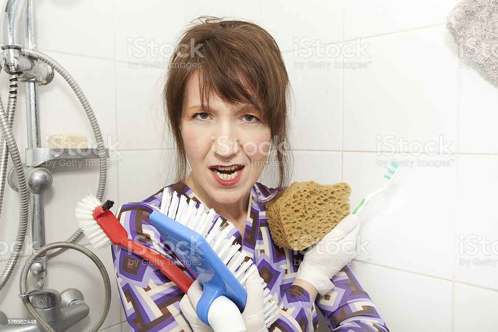 woman serial cleaner royalty-free stock photo