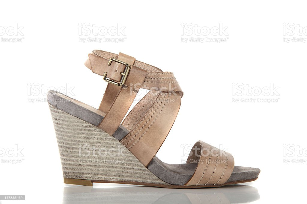 woman shoes on white background royalty-free stock photo