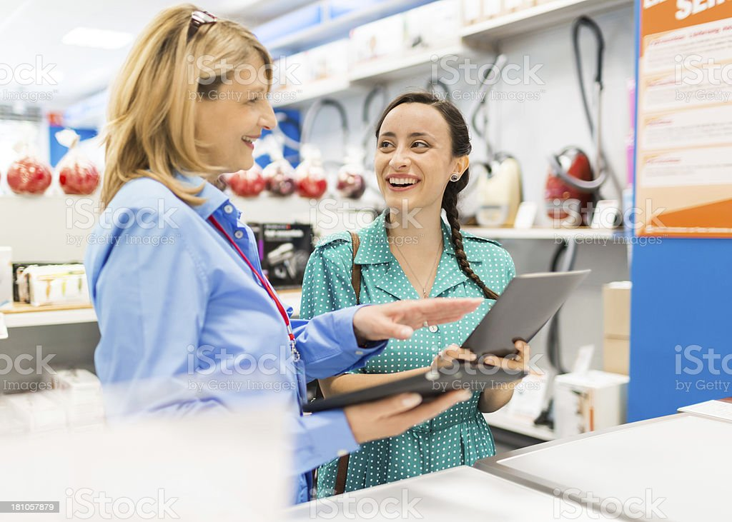 Woman Shopping In Appliance Store royalty-free stock photo