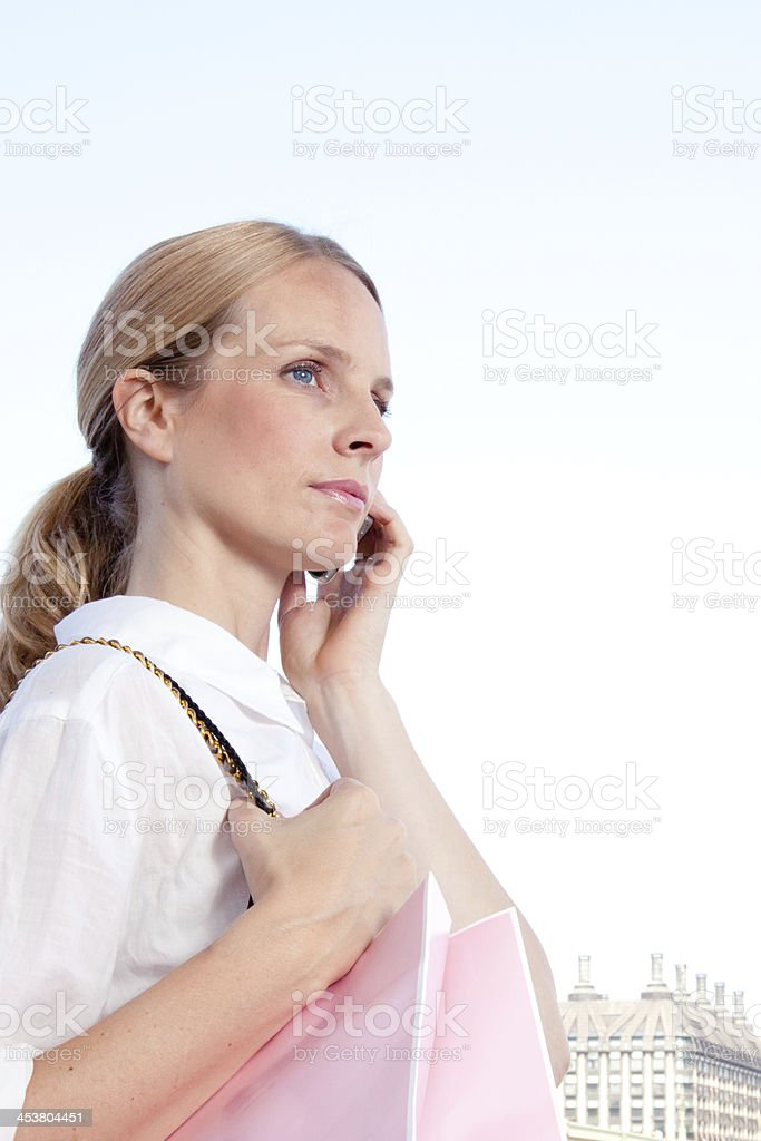 woman shopping in London royalty-free stock photo