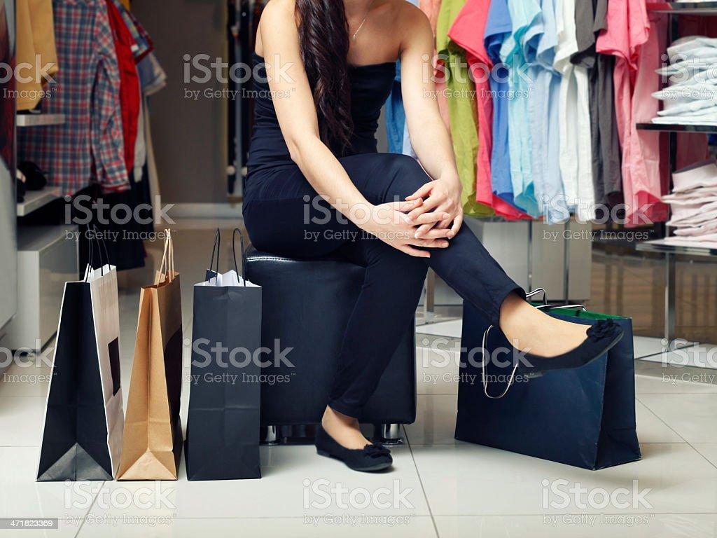 Woman shopping royalty-free stock photo