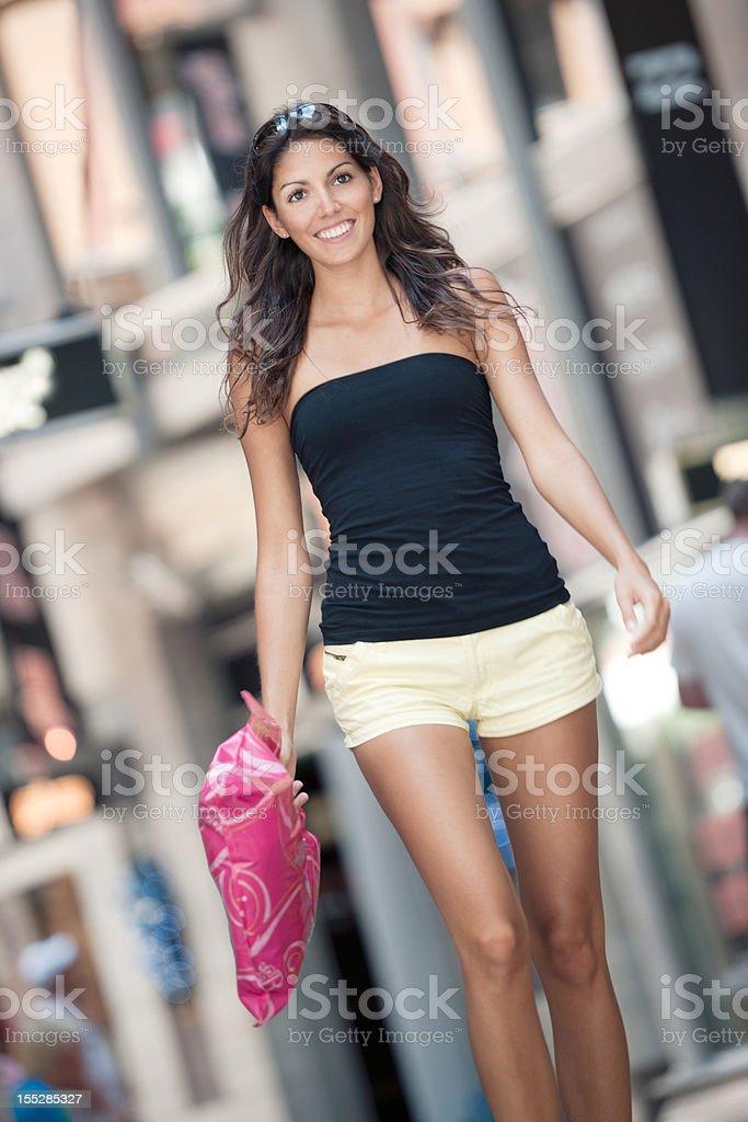 Woman shopping - Sale royalty-free stock photo