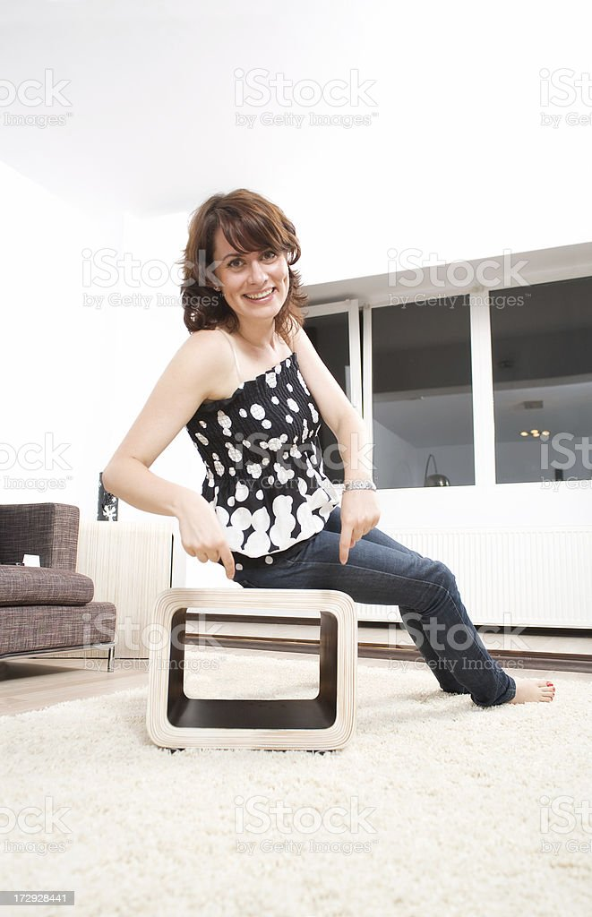 Woman showing royalty-free stock photo