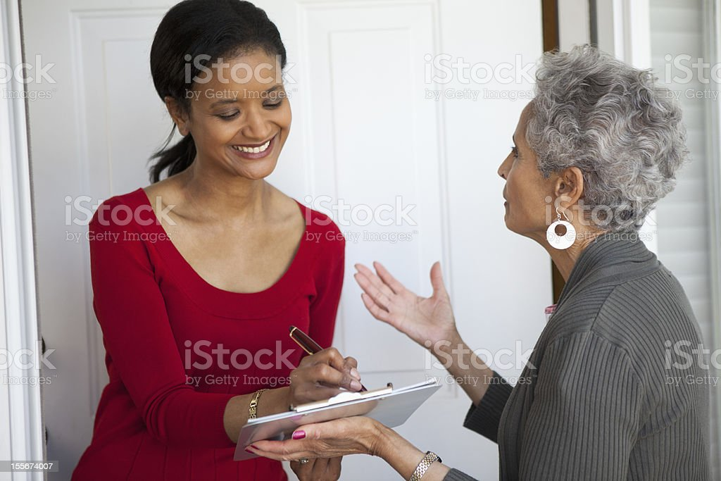 Woman signs a Petition stock photo