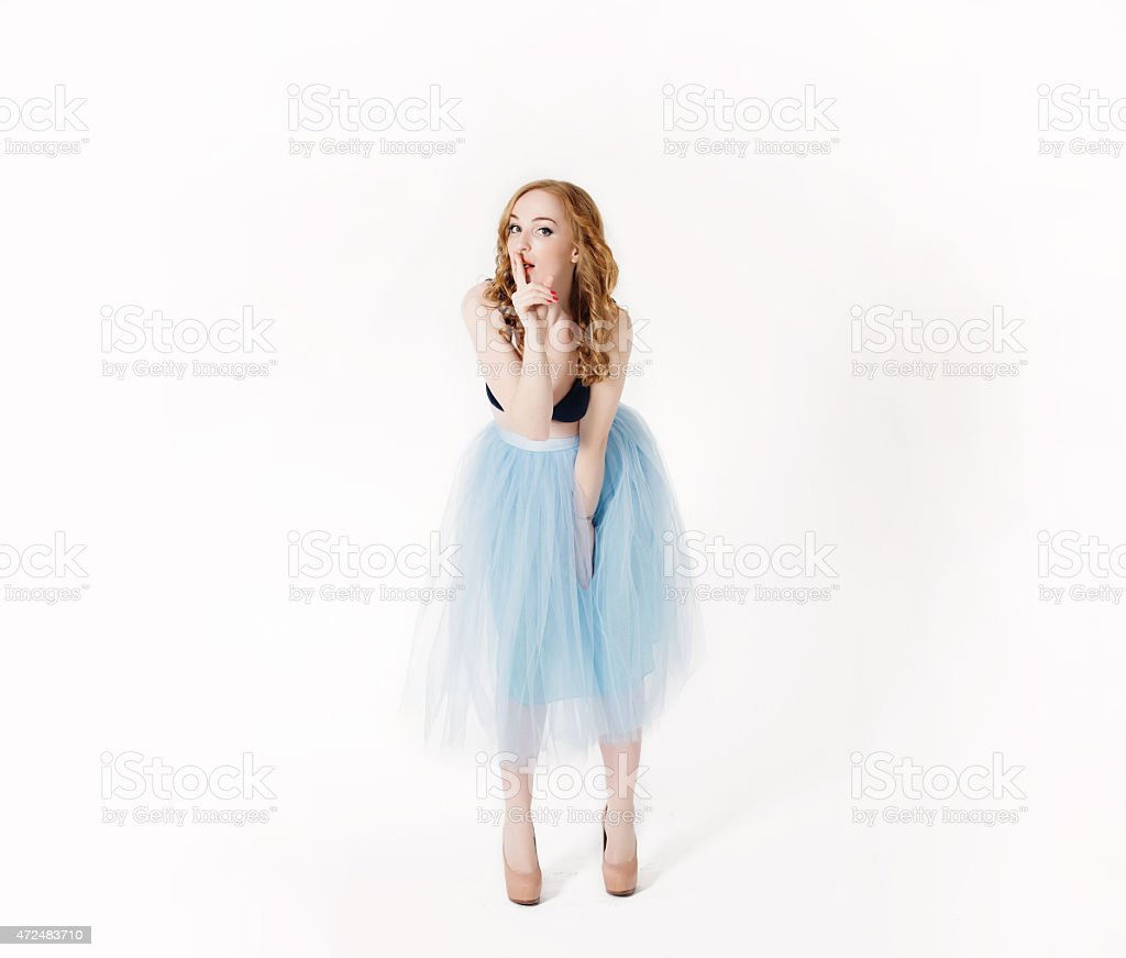woman silence stock photo