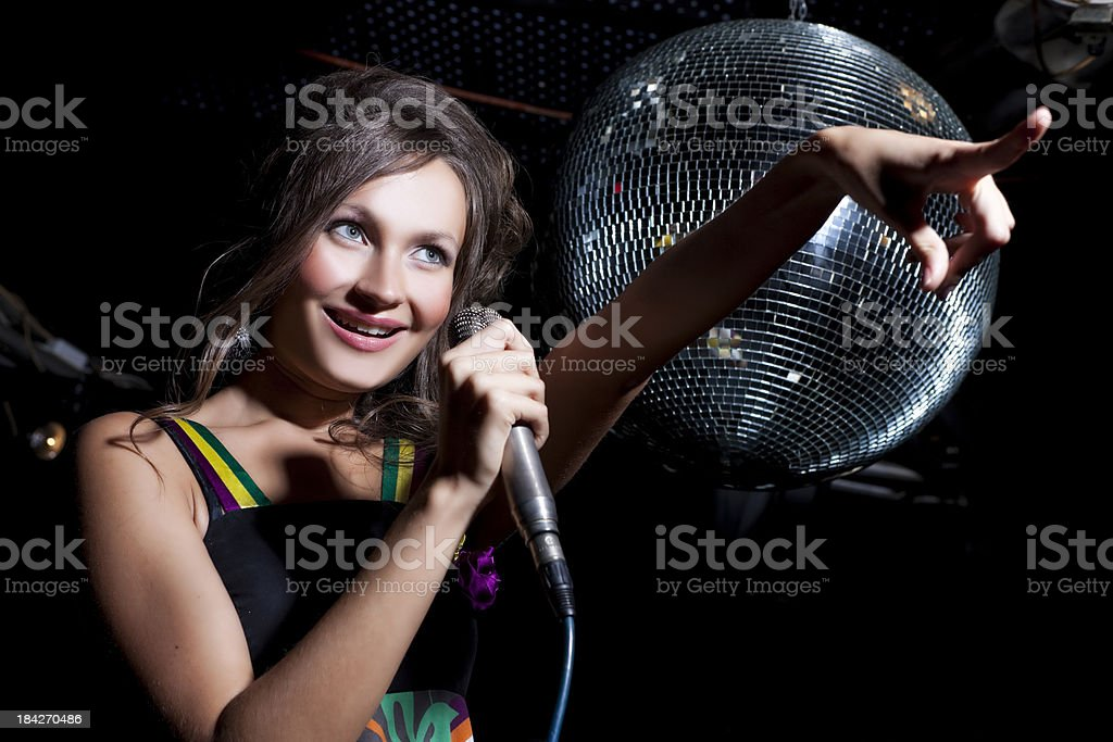Woman Singing royalty-free stock photo
