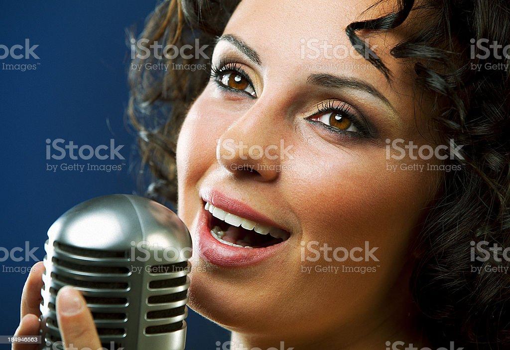 Woman Singing stock photo