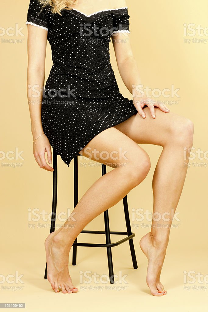 Woman sitting on chair royalty-free stock photo
