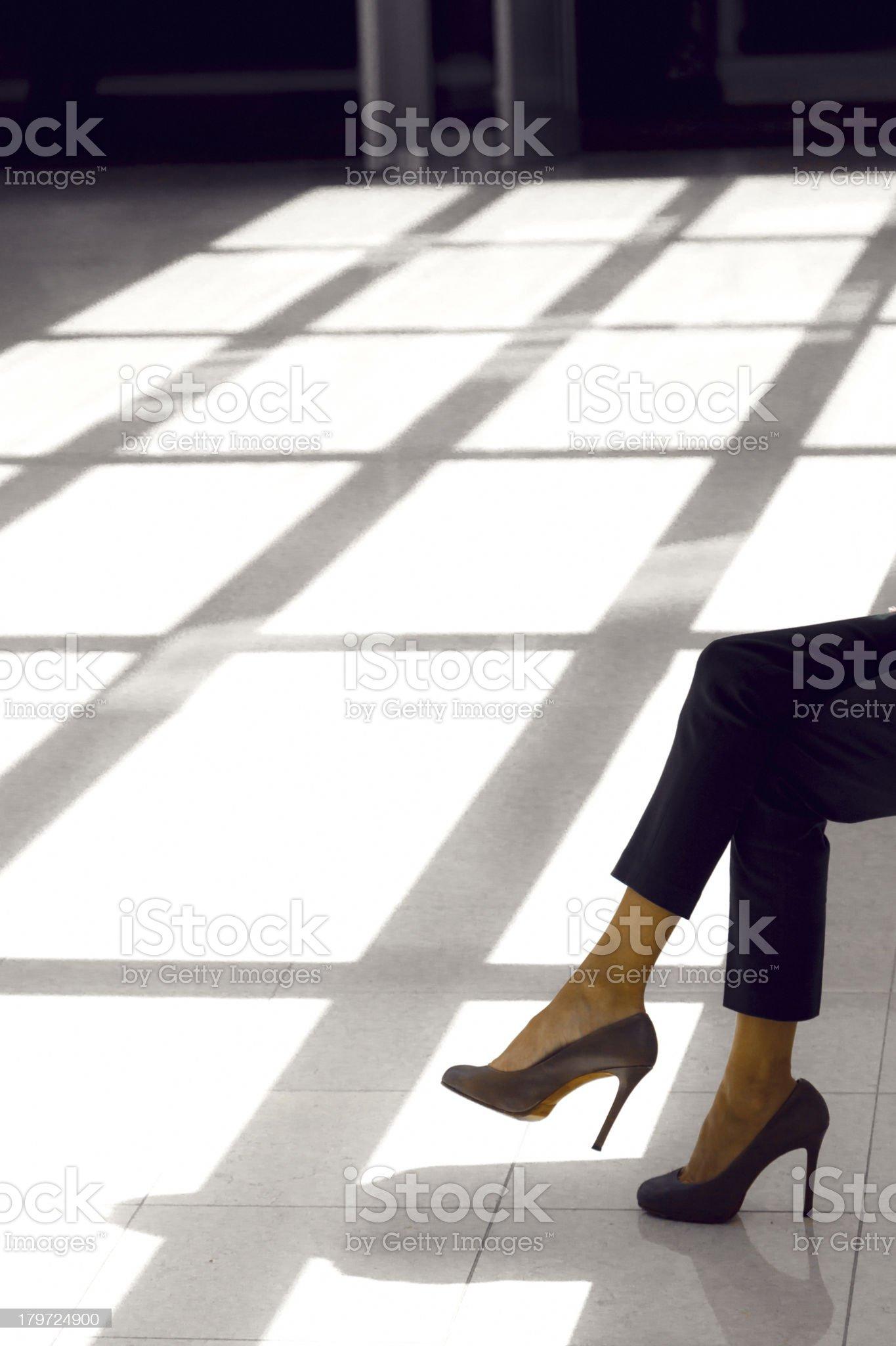 Woman sitting royalty-free stock photo