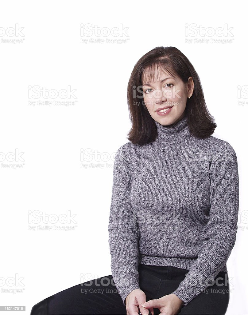 woman sitting royalty-free stock photo