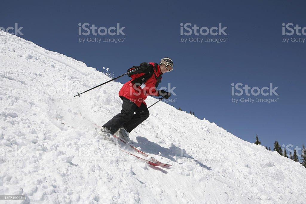 woman skier royalty-free stock photo