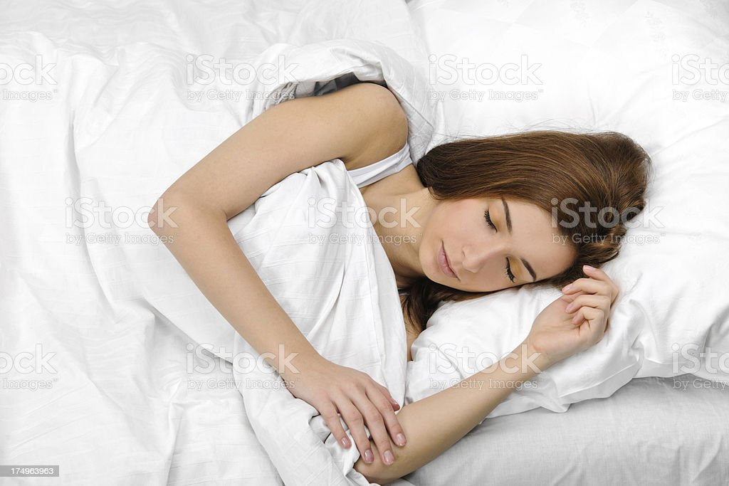 woman sleeping royalty-free stock photo