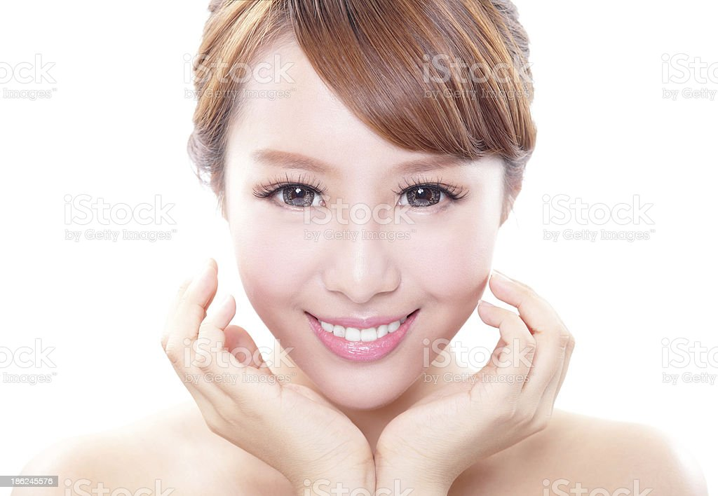woman smile face and health teeth royalty-free stock photo