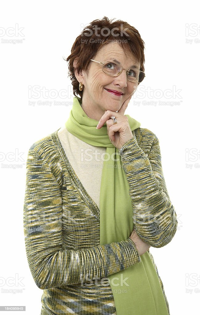 Woman Smiling Dreaming royalty-free stock photo
