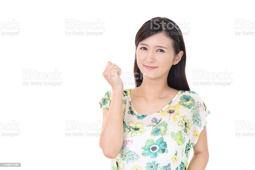 Woman smiling happy stock photo