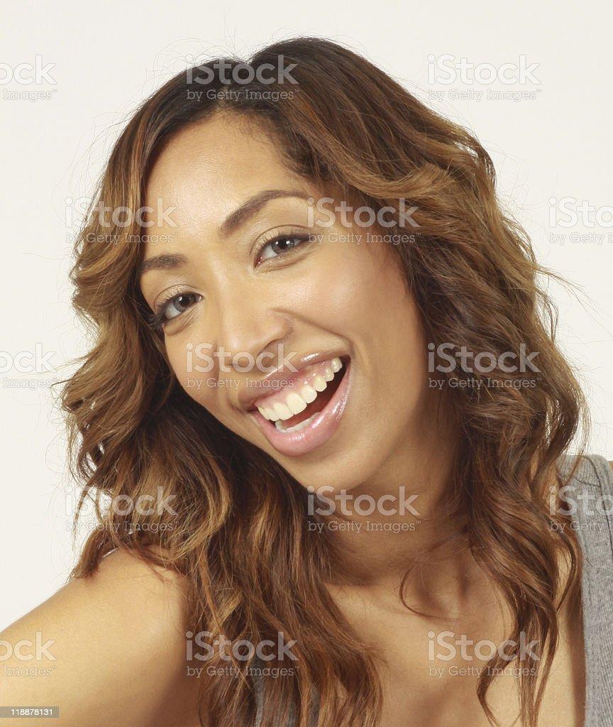 Femme souriant photo libre de droits