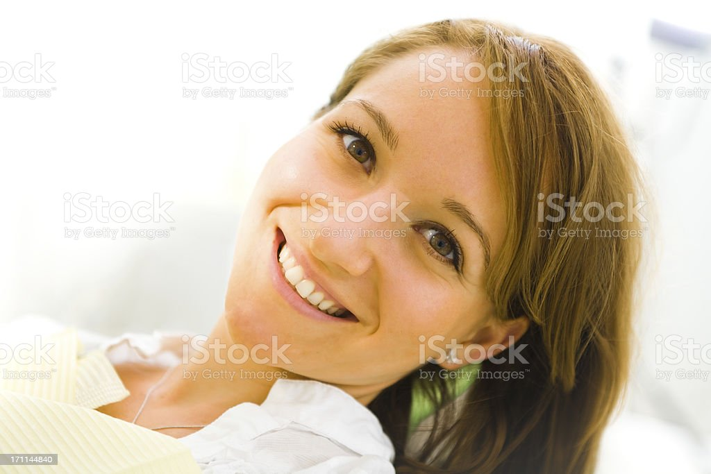 Woman Smiling royalty-free stock photo