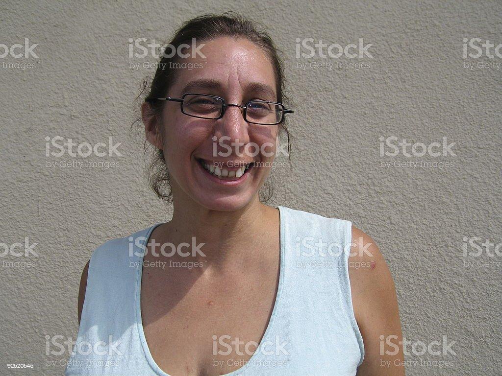 Woman Smiling royalty-free stock photo