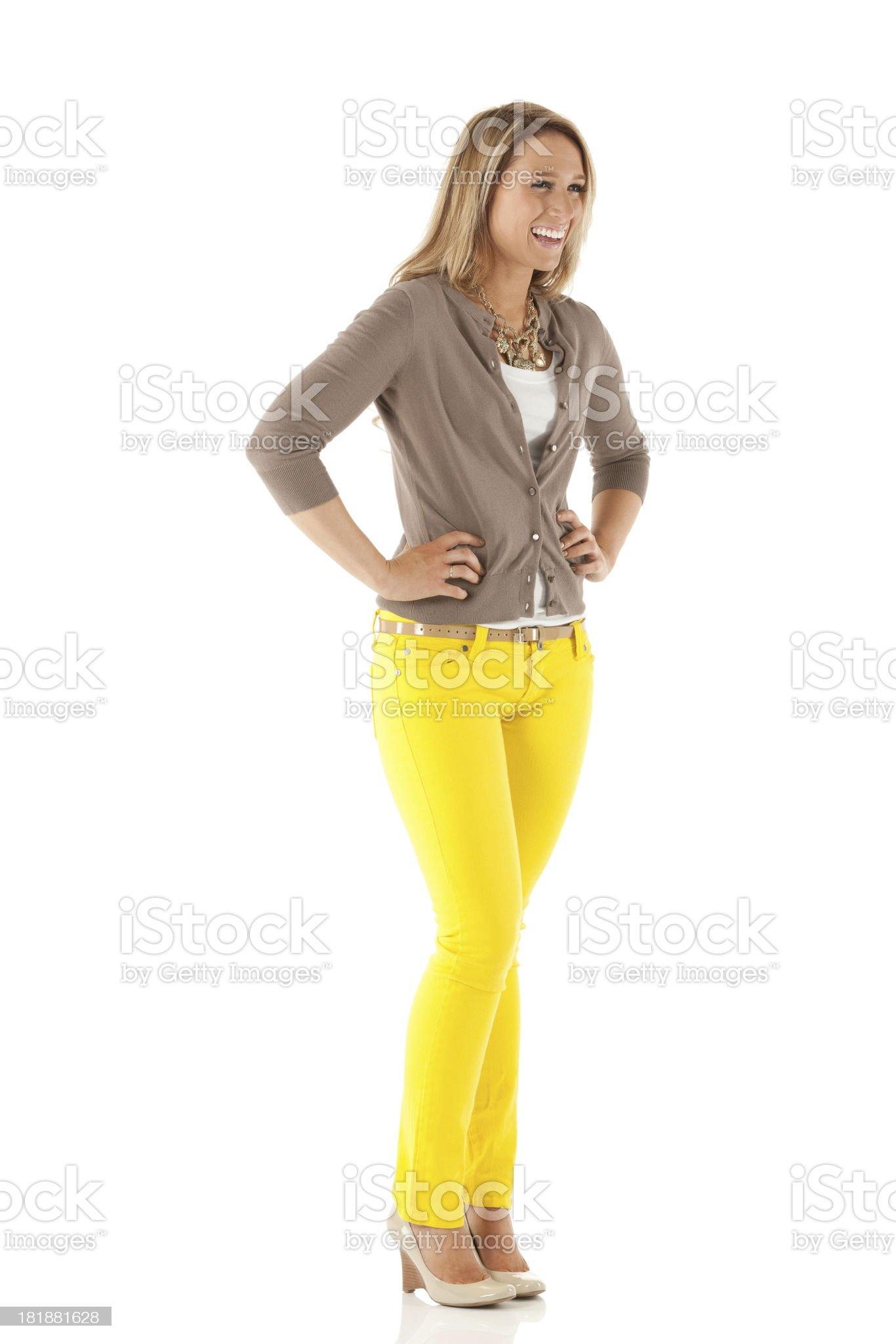 Woman smling royalty-free stock photo