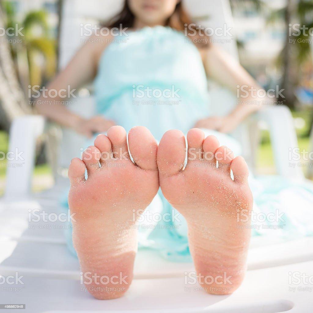 Woman Soles stock photo