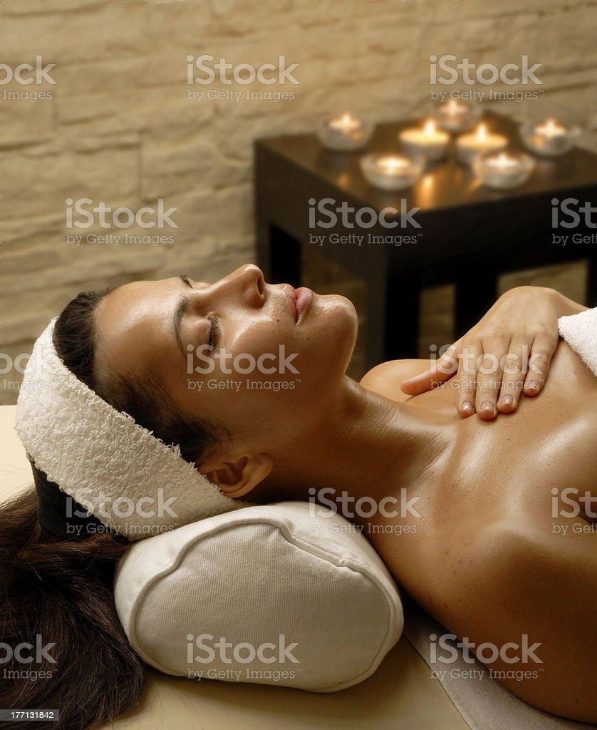 Woman spa. stock photo