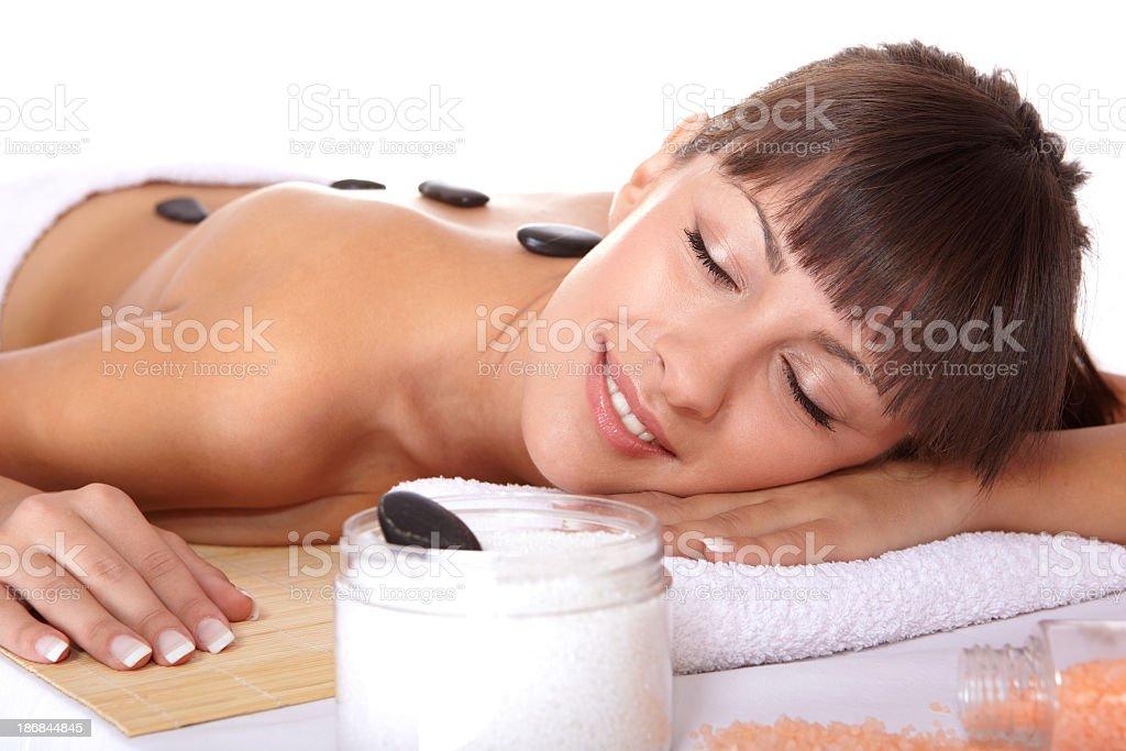 Woman Spa Treatment royalty-free stock photo
